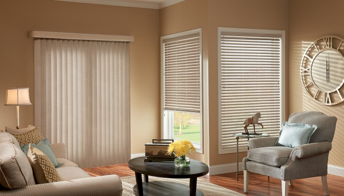 Some Graber Vertical Blind Materials Are Also Available As Horizontal Blinds  For The Window That Canu0027t Have Vertical Slats. French Doors Are Good  Example.